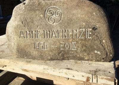 Natural burial marker