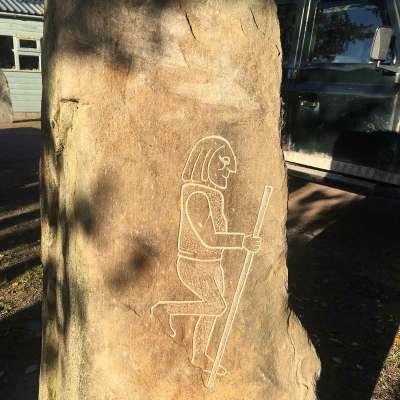 Pictish walking man