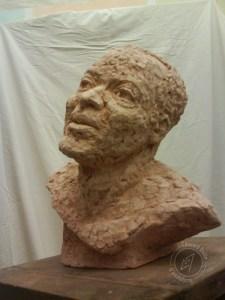Portrait d'homme, 2011 (argile)