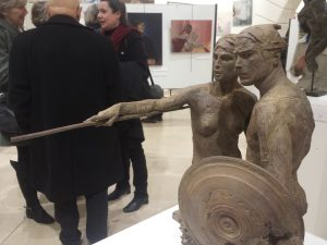 Vernissage (sculpture de Charbonnel)