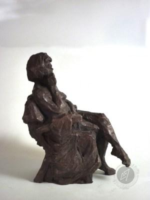 """""""Femme assise"""" 2010 (argile patinée)"""