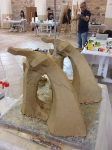 Découpe de la sculpture pour pouvoir la vider