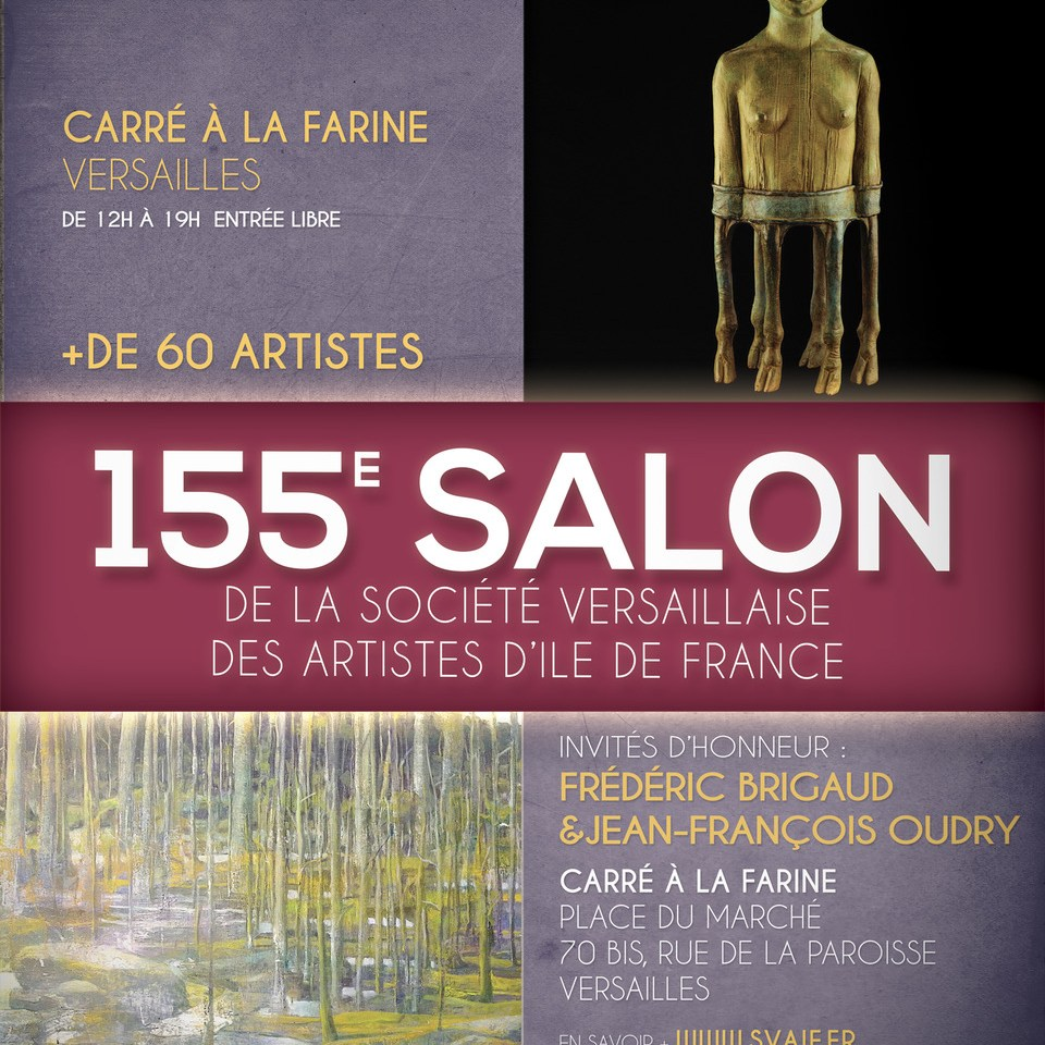 Affiche 155e Salon de Versailles, SVAIF 2020