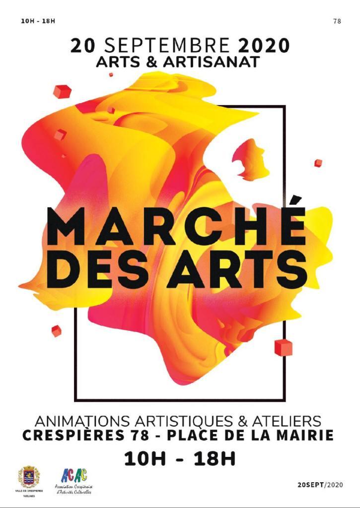 Affiche Marché des Arts à Crespières (sept 2020)