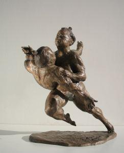 Samurai cm.28x17x12 anno 1993 - statue statuette e sculture di bronzo in vendita a prezzi speciali dall'artista scultore