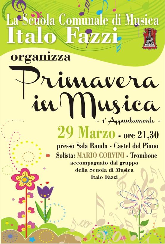 """Locandina dell'iniziativa """"Primavera in Musica"""""""