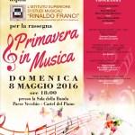 Locandina di Primavera in musica del 8 maggio 2016