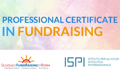 Professional Certificate in Fundraising al via!