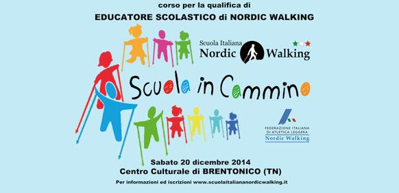 """Corso per """"Educatore Scolastico di Nordic Walking"""" – Brentonico (TN) 28 novembre 2015"""