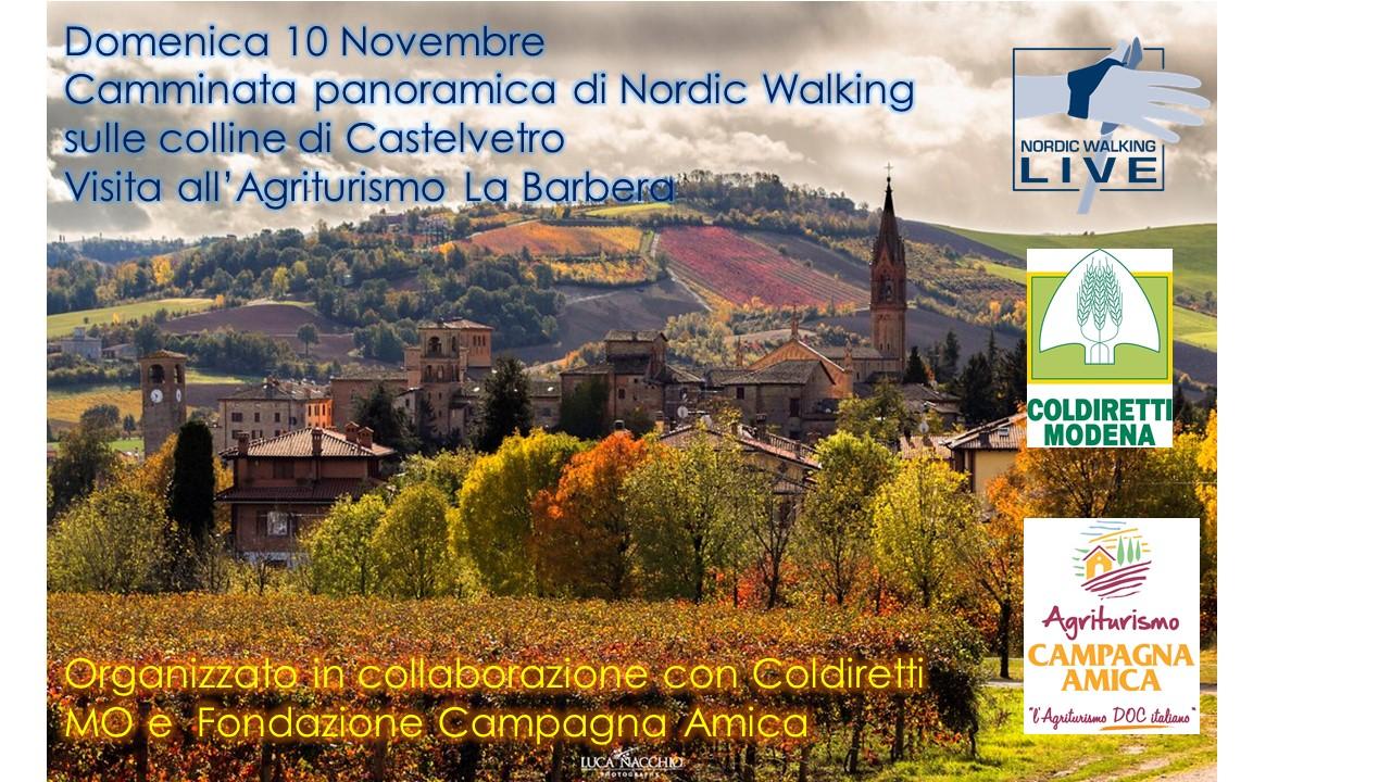 Camminata nordica -10 Novembre Castelvetro (MO)