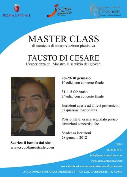 piano master class fausto di cesare