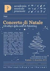 saggi: concerto di natale 2015