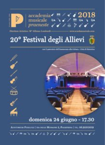 Saggi: festival giugno 2018 palestrina