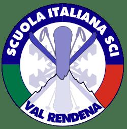 Итальянского Лыжная школа Лыжная школа Val Rendena Pinzolo логотип подгрузчик