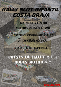 Rally Slot Infantil Costa Brava