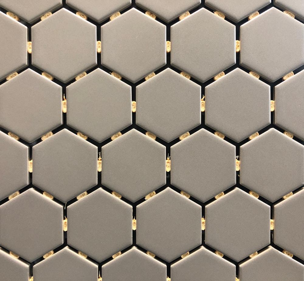 ontario taupe hexagon