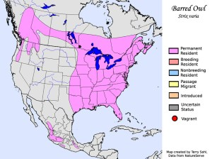 Barred Owl - Range Map