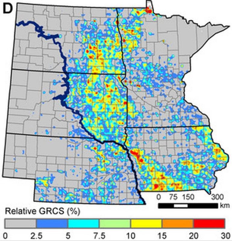 Grassland conversion in the Great Plains