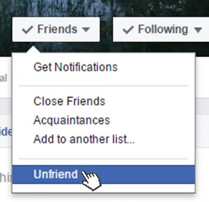Unfriend - Facebook
