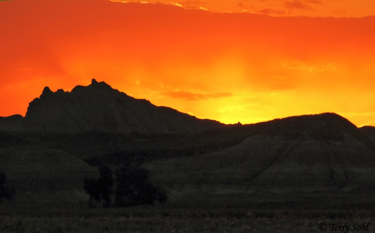 Sunset over the Buffalo Gap National Grasslands, South Dakota