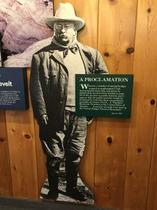 Teddy Roosevelt Display - Natural Bridges National Monument