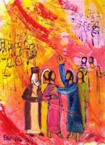 Naplnění Duchem svatým|foto:Berna Lopez, www.evangile-et-peinture.org