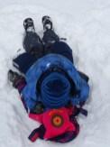 Sněhová muchlovačka v závějích na Churáňově