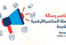 صورة عناصر رسالة حملة المناصرة الرقمية الناجحة