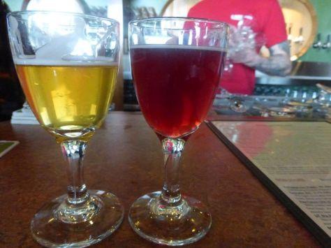 Apricot Sour (left) Blueberry Sour (right)