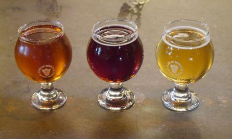 Left to right (Honey, Amber, Saison).