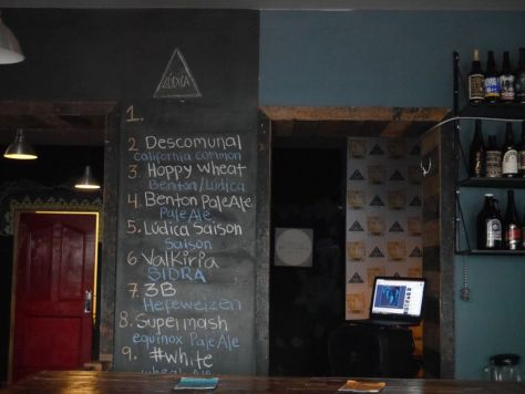 Tap list at Ludica.
