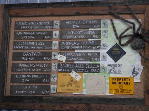 Full tap list when I visited.
