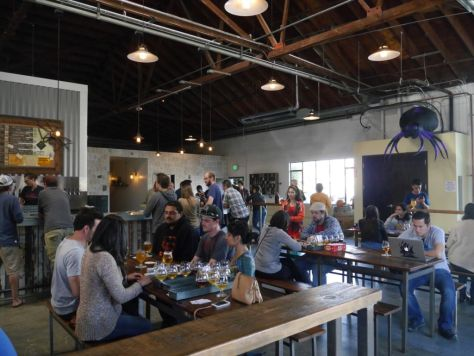 Nice open space of the tasting room.