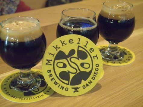 Dark beers.