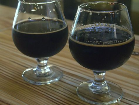 Two delicious super thick stouts.
