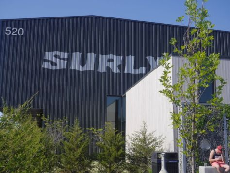This photo somewhat gives you an idea of how massive Surly's brewery location is.