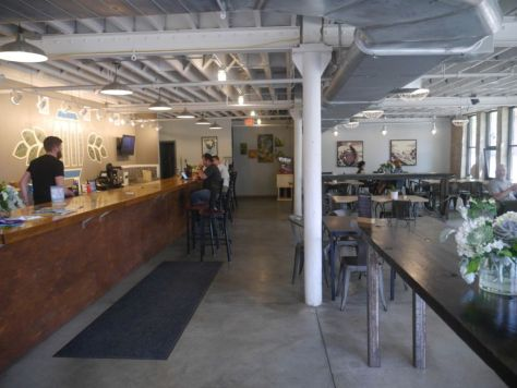 Nice inside space at the brewery.