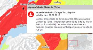 Risque d'incendie:feux interdits en forêt