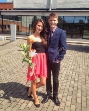 Keltin and I after she received her summa cum laude bachelors degree in Public Economics from TTÜ (Tallinn, Estonia).