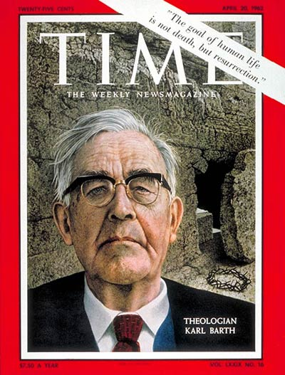 Karl Barth on the cover of Time Magazine; April 20th, 1962
