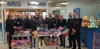 Carabinieri in visita alla Pediatria dell'Ospedale Maggiore di Novara