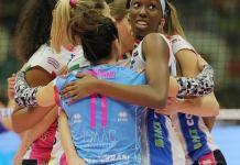 Igor Volley Novara sconfitta all'esordio in Champions contro Conegliano