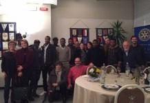 UN GRUPPO DI MIGRANTI ALLA RIUNIONE DEL ROTARY CLUB BORGOMANERO - ARONA