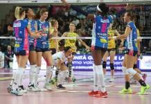 Igor Volley batte 3 a 1 Conegliano in Champions League