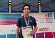 Tiziano Bua del Team Atletico Novara campione Europeo Master