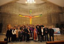 Benedetto il nuovo Fonte battesimale della chiesa di San Rocco, donato da Confartigianato