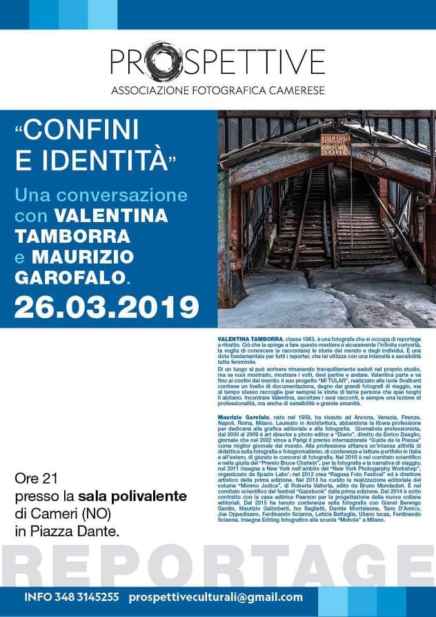 Associazione Fotografica Camerese Prospettive, serata con Valentina Tamborra e Maurizio Garofalo