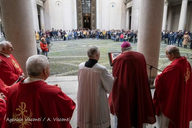 La Domenica delle Palme in Duomo a Novara con il Vescovo Franco Giulio Brambilla