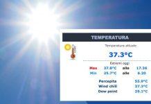 sole e temperatura a Novara 53 gradi percepiti