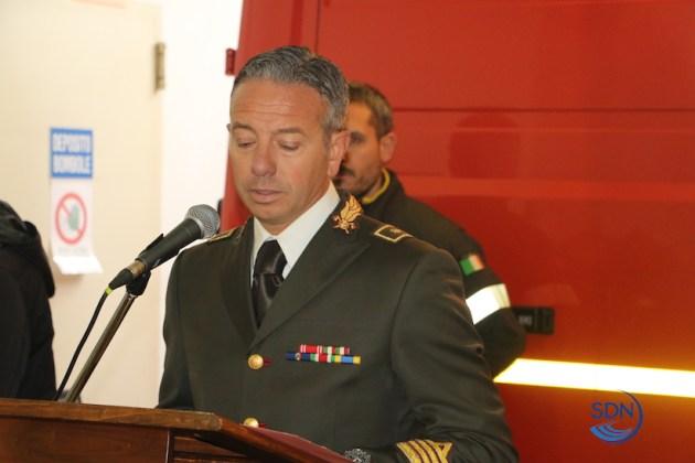 il comandante dei vigili del fuoco Felice Iracà